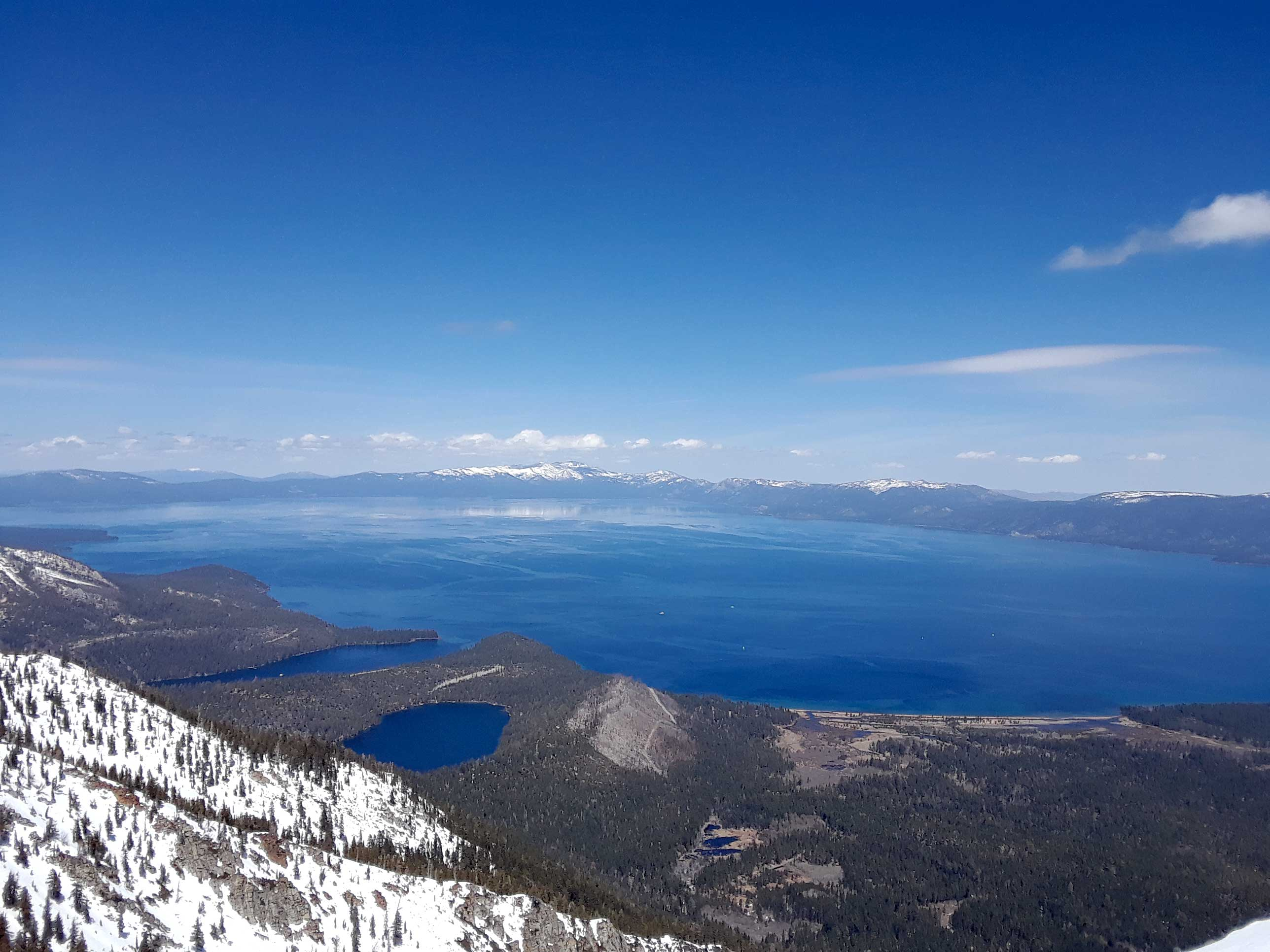 Tallac Mt has the best views of Lake Tahoe